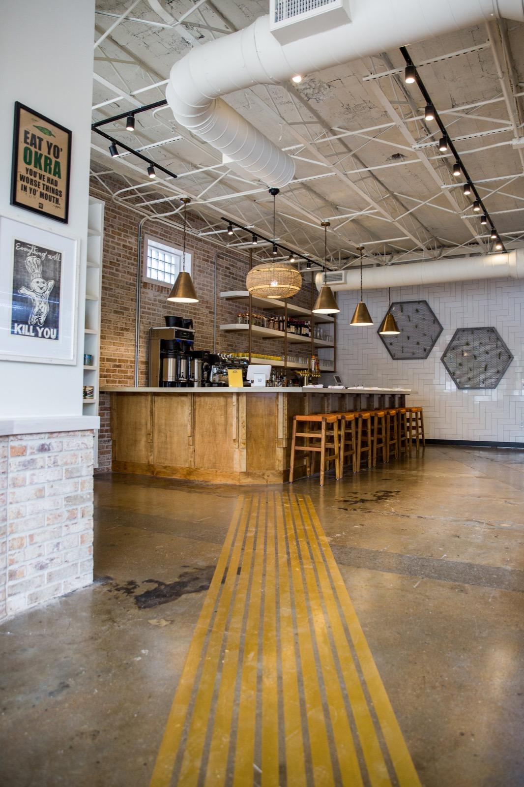 The interior bar inside EIO & the Hive