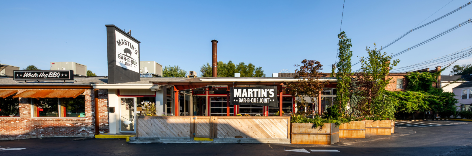 The front of Martin's BBQ in Louisville, KY