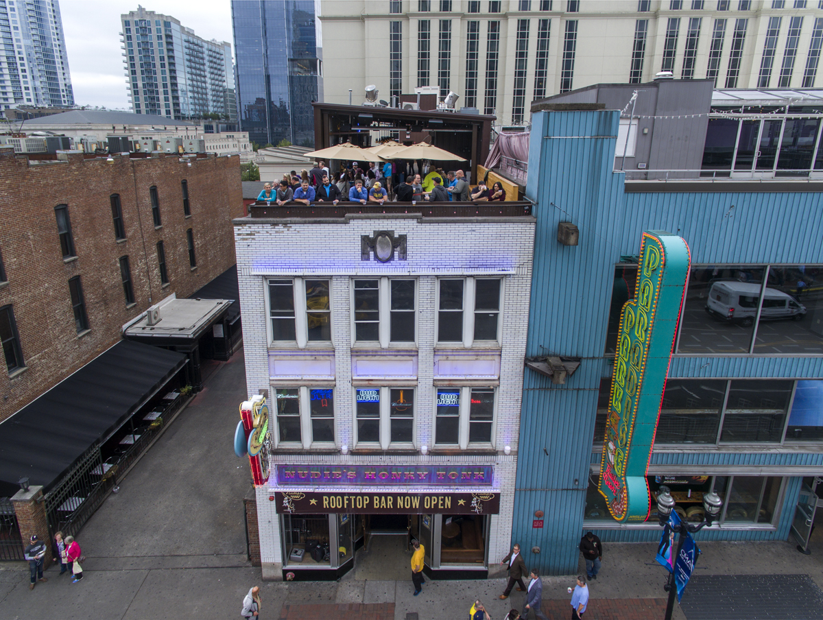 The outside of Nudie's Honky Tonk on Broadway in downtown Nashville, TN.
