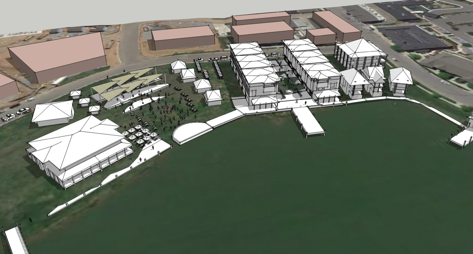 3D model of Westhaven mixed-use community.